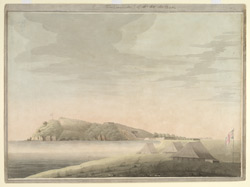 View of Trincomallee (Ceylon); a camp in the foreground by Lieut Thomas Castle, 4th Ceylon Regt.
